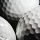 Golf ball on black background - PhotoDune Item for Sale