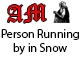 Person Running by in Snow