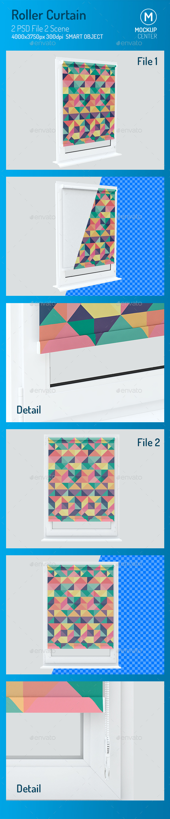 Roller Curtain Mockup - Print Product Mock-Ups