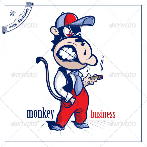Cartoon Monkey Character - Animals Characters