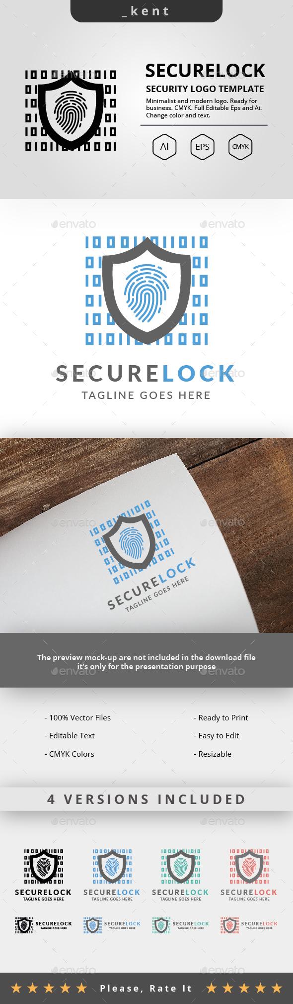 Secure Lock Logo - Symbols Logo Templates