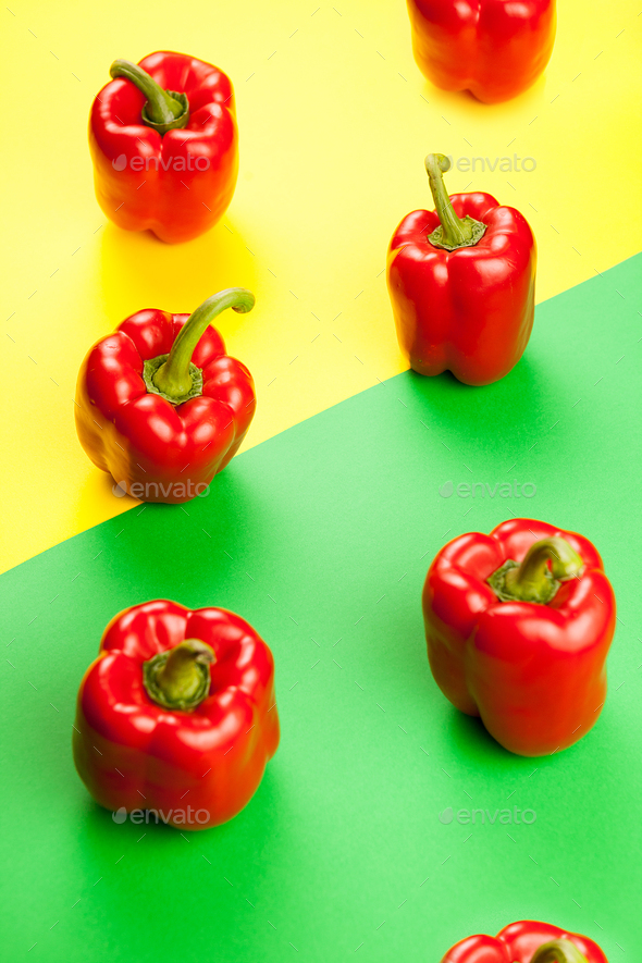 Fresh healthy sweet red peppers - Stock Photo - Images