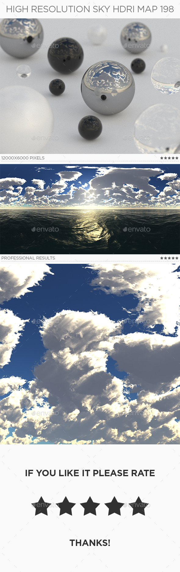 High Resolution Sky HDRi Map 198 - 3DOcean Item for Sale