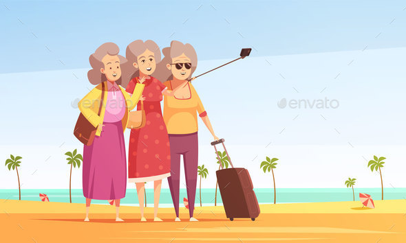 Anti Aging Vector Illustration - Sports/Activity Conceptual