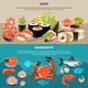 Sushi Flat Banner Set