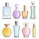 Perfume Glass Bottles Colorful Realistic