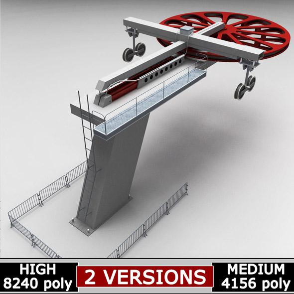 Ski lift cableway pillars - 3DOcean Item for Sale