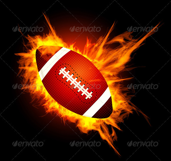 American Football Ball - Sports/Activity Conceptual