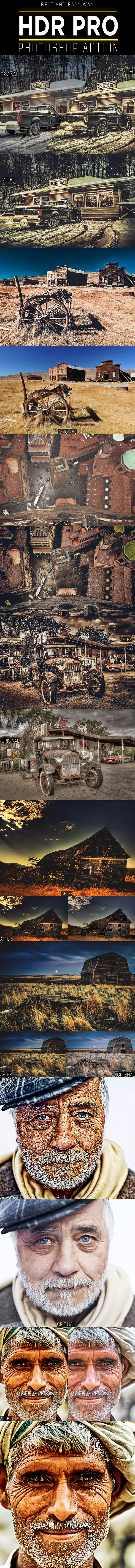 HDR PRO  Photoshop Action - Photo Effects Actions