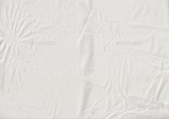 white crumpled kraft paper texture - Stock Photo - Images