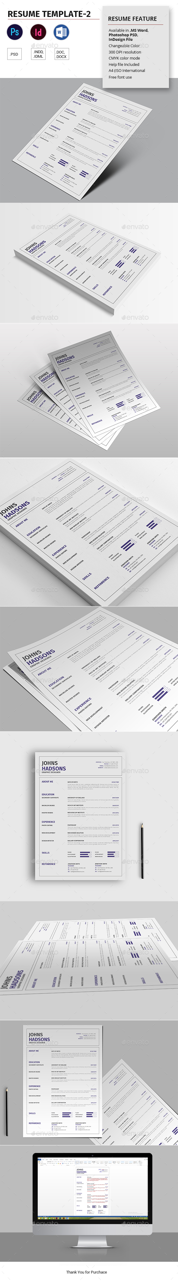 Resume Template-2 - Resumes Stationery