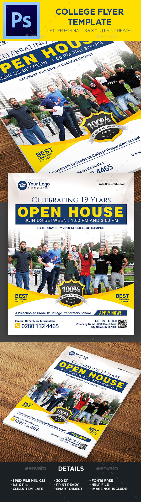 College Open House Flyer - Flyers Print Templates