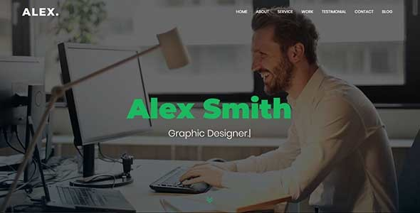 Alex - Personal Portfolio Template - Personal Site Templates