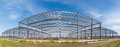 steel structure workshop panoramic view - PhotoDune Item for Sale