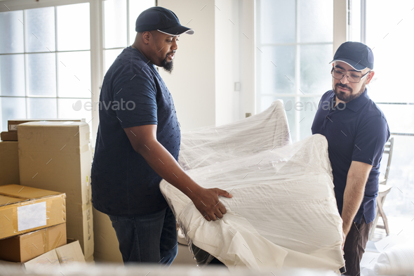 Furniture delivery service concept - Stock Photo - Images