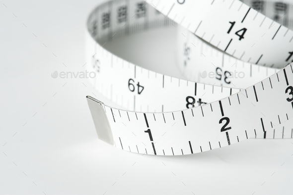 CLoseup of measuring tape - Stock Photo - Images