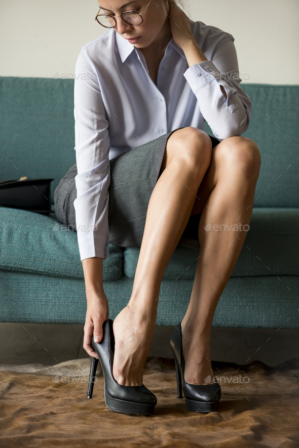 Woman wearing high heels - Stock Photo - Images