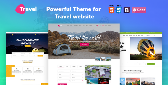 Image of Travel - Tour, Travel Agency, Tour Booking HTML 5 Template.