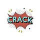 A crack kaboom icon isolated on background - PhotoDune Item for Sale