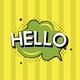 Hello graphic isolated on background - PhotoDune Item for Sale