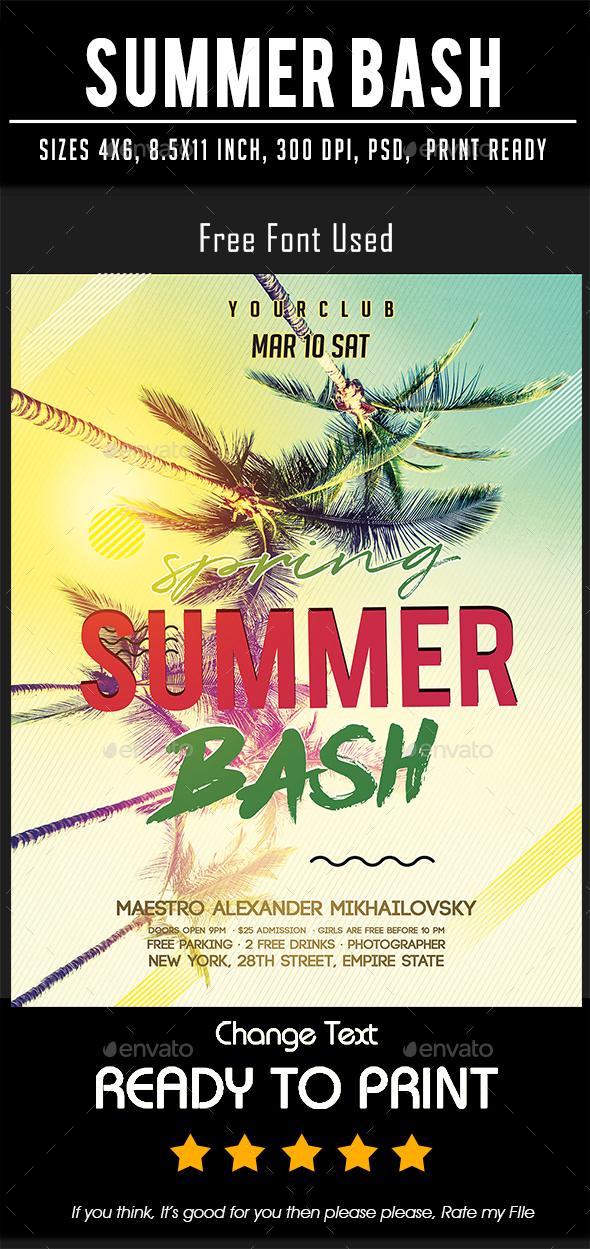 Summer Bash - Flyers Print Templates