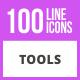 100 Tools Line Icons