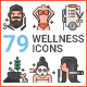 Wellness Icons - GraphicRiver Item for Sale