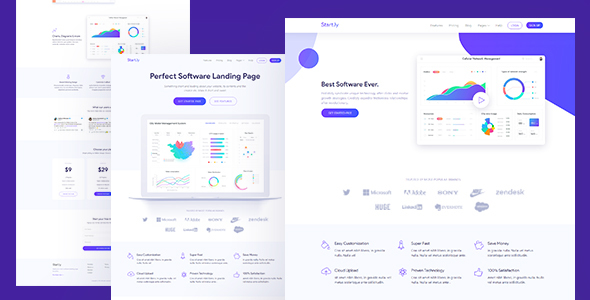 Image of Software & SaaS App Landing Page Template — Startly