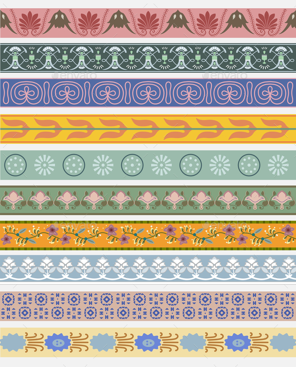 Vintage patterns inspired by The Grammar of Ornament - Stock Photo - Images