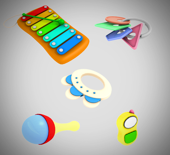 Baby Toy set 001 - 3DOcean Item for Sale