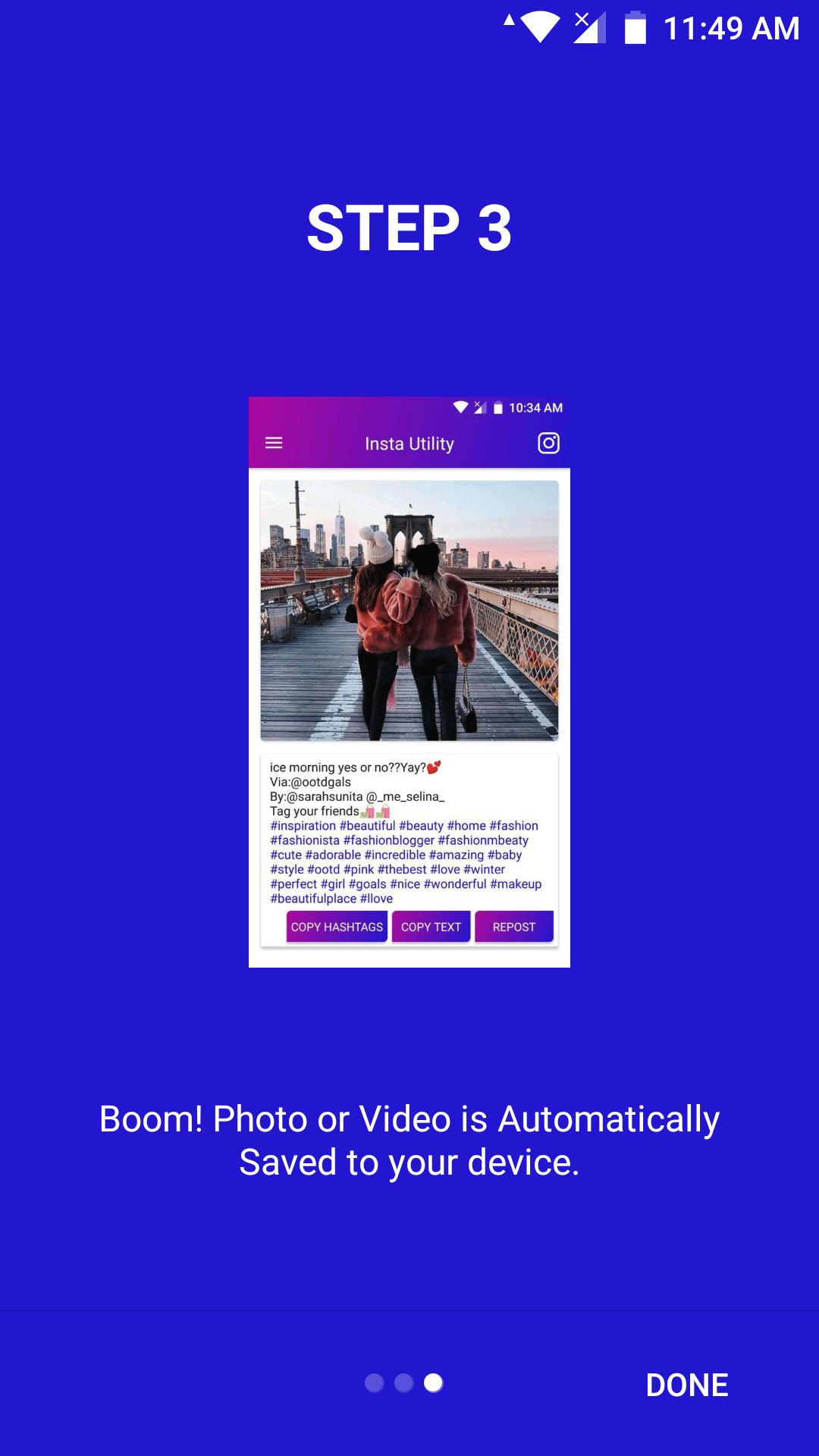 Instagram Utility - Save Photos, Videos, HD DP and Stories with Admob Ads