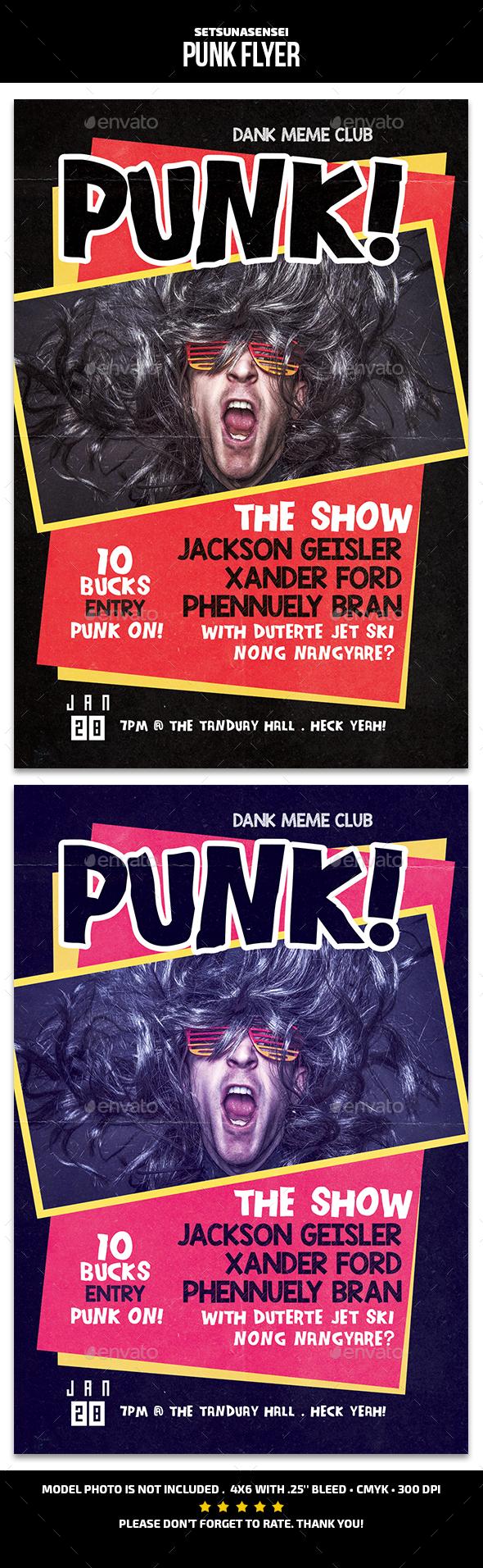 Punk Flyer - Concerts Events
