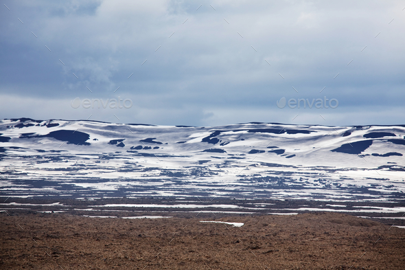 Mountains in Iceland - Stock Photo - Images