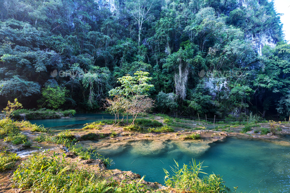 Pools in Guatemala - Stock Photo - Images