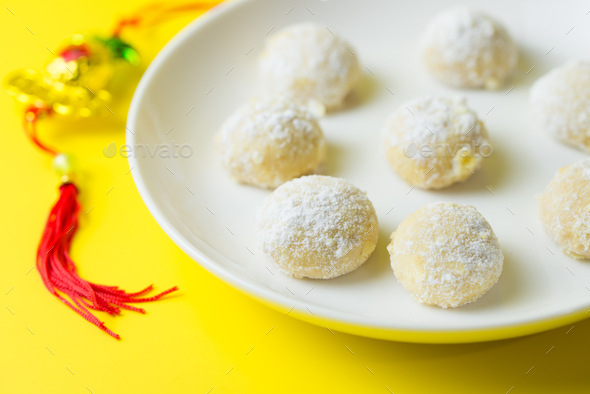 Homemade snow ball cookie - Stock Photo - Images