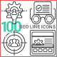 SEO Line Icons - GraphicRiver Item for Sale
