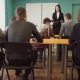 Woman Teacher Talking To Students During a Lesson at University - VideoHive Item for Sale