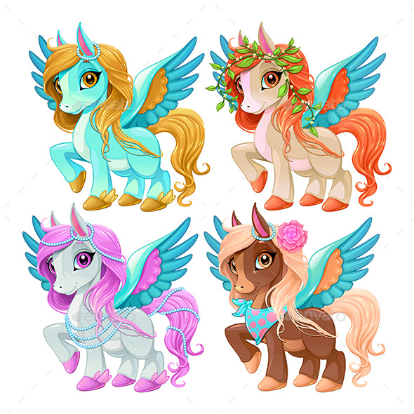 Baby Pegasus for Freedom and Magic - Animals Characters