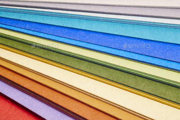Colorful cardboards macro detail. Choose color. Textured background. Horizontal - Stock Photo - Images
