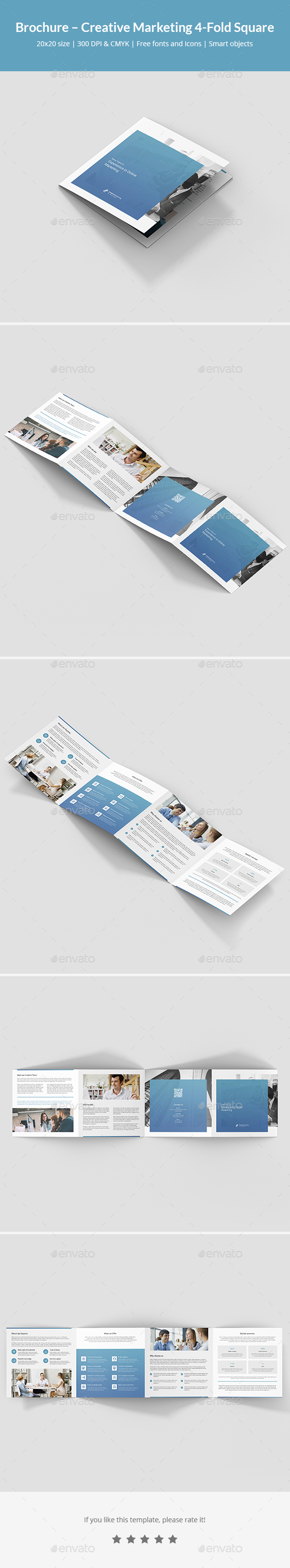 Brochure – Creative Marketing 4-Fold Square - Corporate Brochures