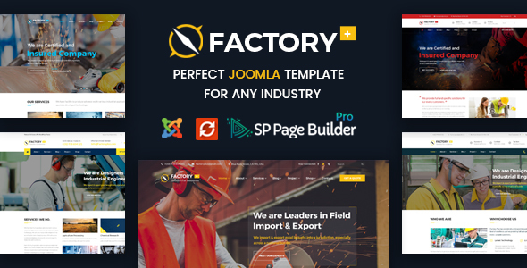 Image of Factory Plus - Industry / Factory / Engineering and Construction Business Joomla Template