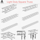 Light Duty Square Truss (Collection 9 Modular Pieces)