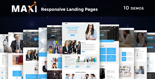 Maxi - Multipurpose Responsive HTML Landing Pages - Marketing Corporate
