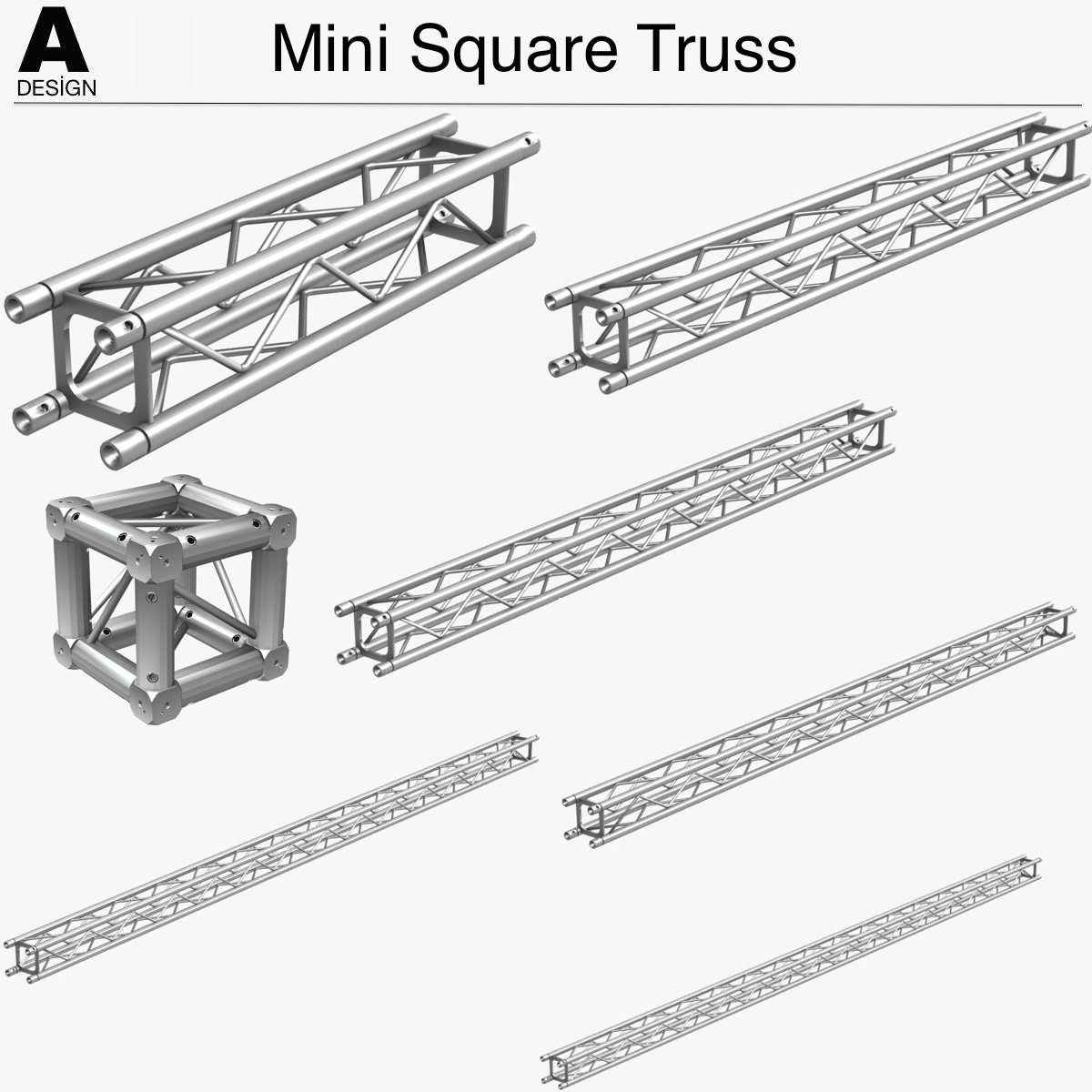 Mini Square Truss (Collection 7 Modular Pieces)