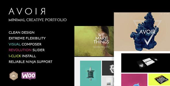 AVOIR Portfolio - Minimal Creative Portfolio - Portfolio Creative