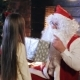 Santa Claus Gives a Gift To a Little Girl - VideoHive Item for Sale