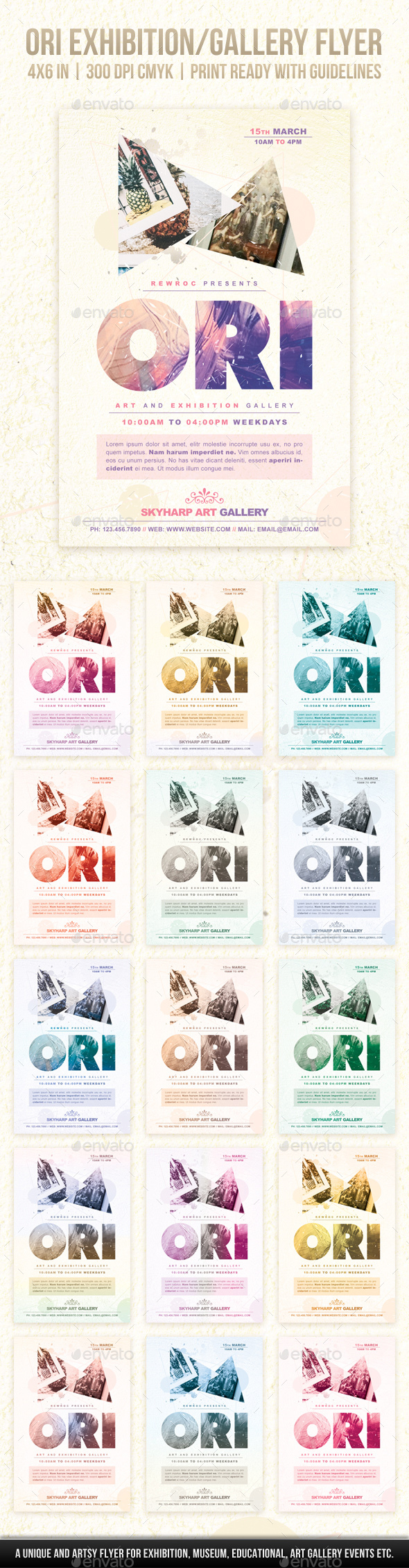 Ori Exhibition/Gallery Flyer - Miscellaneous Events