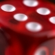 Rotating Red Dice Around Its Axis, on a Black Background - VideoHive Item for Sale