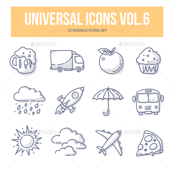 Universal Doodle Icons vol.6 - Miscellaneous Icons