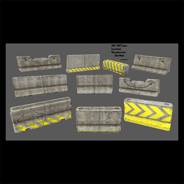 barrier set 1 - 3DOcean Item for Sale